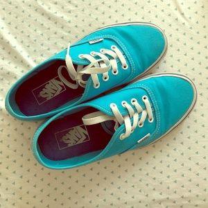 Women's Blue Vans 7.5